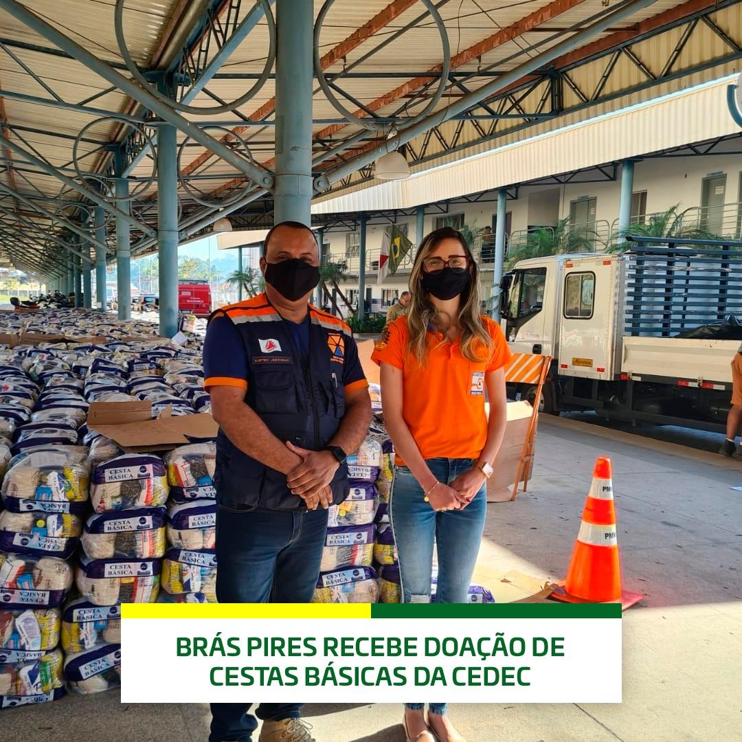 ➡️Brás Pires recebe doação de cestas básicas